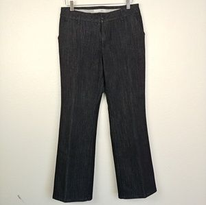 Chico's Wide Leg Black Denim Pants
